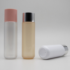 wholesale round pet cosmetic toner bottle toner 60ml 200ml plastic toner bottle