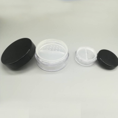 High Quality Plastic Loose Powder Jar 30g with Sifter