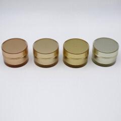 wholesale 50g gold color round shape acrylic jars plastic jars with lids cream jar 2oz