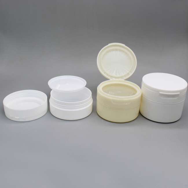 50g 60g 120g  jar with flip top cap lock tight plastic cosmetic cylinder  jar