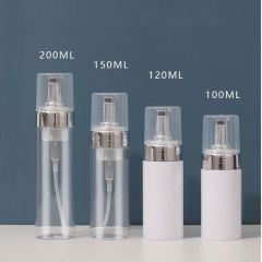 Wholesale Cosmetics Soap Triangle Facial Cleanser Luxury Foaming Cosmetic Empty Plastic Foam Pump Bottle 120Ml 150Ml 200Ml