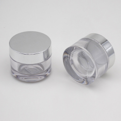 wholesale clear round luxury cosmetic PETG luxury diamond plastic cosmetic jars 50ML