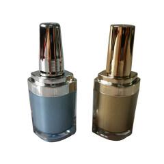 DNNU-543 Oval Acrylic Plastic Nail Polish Bottle
