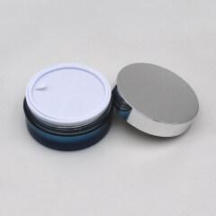 Duannypack 50gx2 40g+60g flat cosmetic  cream dual chamber cream face mask jar packaging