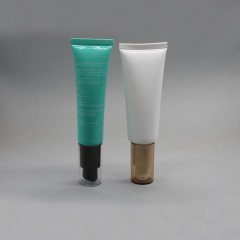 Customized Color and Logo 100ml Packaging Cosmetic Lotion Airless Tubes with Pump
