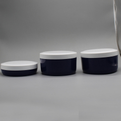 Wholesale Flat Round White PP Hair Care Jar Packaging