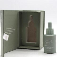 wholesale green tea color skincare bottle dropper 1oz glass cosmetic dropper bottle