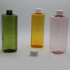 DNBL-532 flat square PET color bottle with proof cap