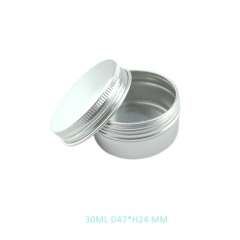 Empty 30ml Aluminum jar 30 ml Aluminium Tin with Screw Lid