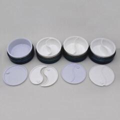 Duannypack 50gx2 40g+60g round dual chamber cream private label eye mask jar