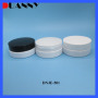 100g PET Clear Jar with Black Cap Packaging for Skin Care