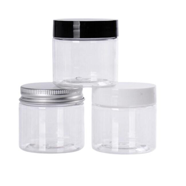 Customized and Wholesale 30ml 40ml 50ml 60ml 100ml 120ml 150ml 200ml 250ml 300ml 400ml 500ml PET Plastic Jars with Lid
