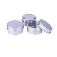 Empty 10ml Aluminum jar 10 ml Aluminium Tin with Screw Lid
