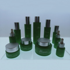 wholesale hot sale cosmetics face cream glass bottles and matte frosted glass cream jar