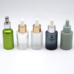 DNOB-508 frosted gray dropper glass bottle