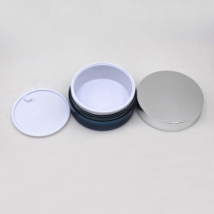 Duannypack 50gx2 40g+60g flat round cosmetic body cream jar cosmetic double wall cosmetic cream jar