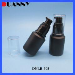 DNLB-503 Black Matt Glass Cosmetic Lotion Pump Bottle