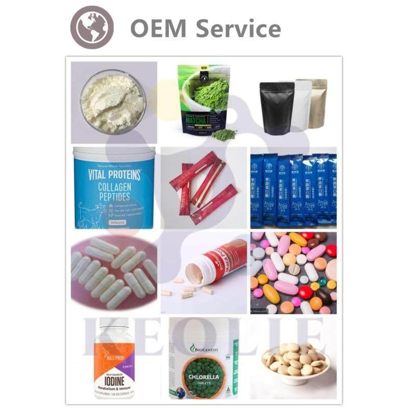 White skin collagen powder in sachet supplement