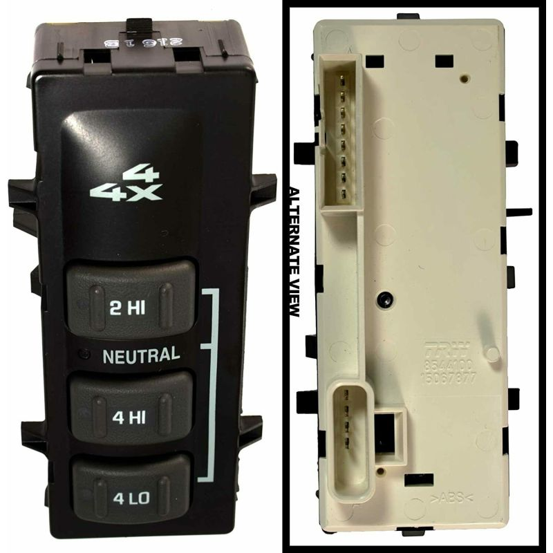 Transfer Case Selector Dash Switch   19168769 For 2001-2002 Chevrolet Avalanche 25002001-2002 GMC Sierra 2500-35002001-2002 Chevrolet Silverado 3500