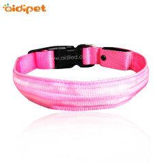 Fashion Dog Collar Wholesale Light up Led Dog Collar Dual Optical Fibers Dog Collars