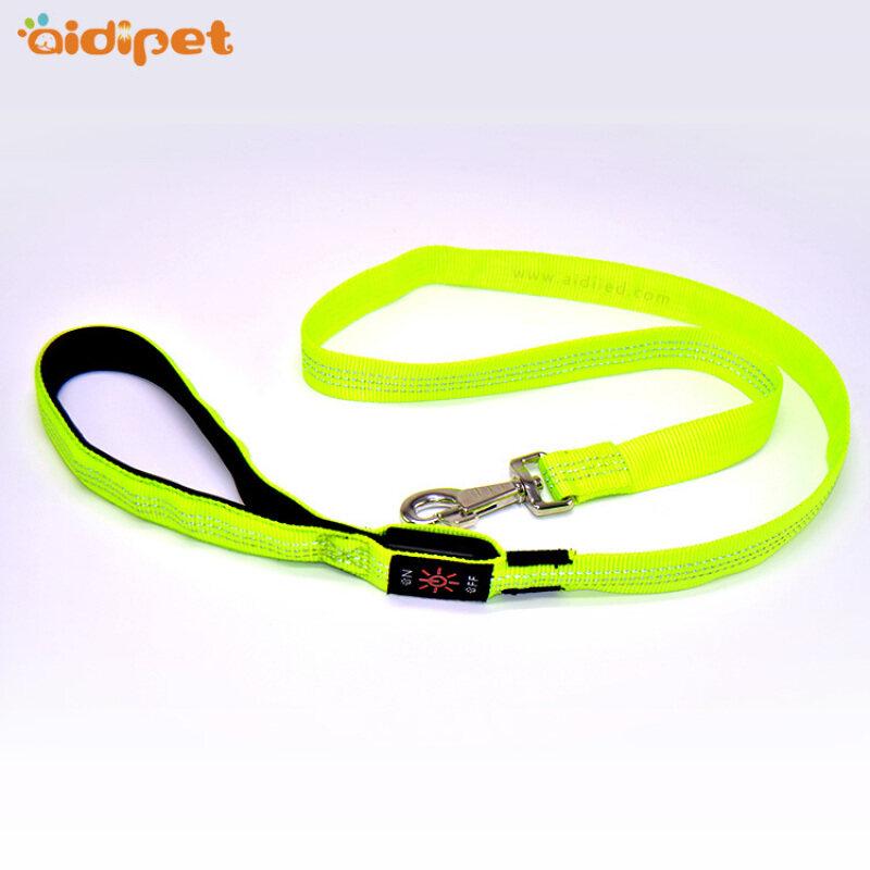 Reflective Stitching Led Dog Leash USB Rechargeable Pet Dog Lead Amazon Selling Led Leash for Dogs