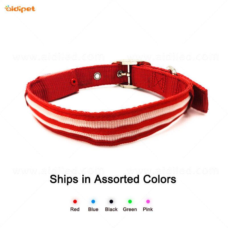 pet supplies led dog collar leashes Pet Dog Cat Puppy Safe Luminous Flashing Necklace aidiflashing
