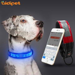 Led Programmable Dog Collar with Screen Display Dog Collar APP Control Anri-lost Led Dog Collar Rechargeable