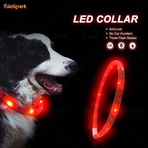 Dog Collar Collar For Dogs Promotional Cheap Plaid Cotton led night collar C8