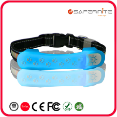 2020 New Trend Led Dog Accessory  Light up Dog Collar Cover  Silicone Waterproof Pet Accessories Light