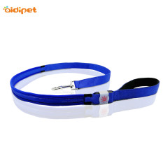 Fish Filament Nylon 2019 Sale Dog Leash with Led Light Rechargeable Red Blue Green Dog Leash Light