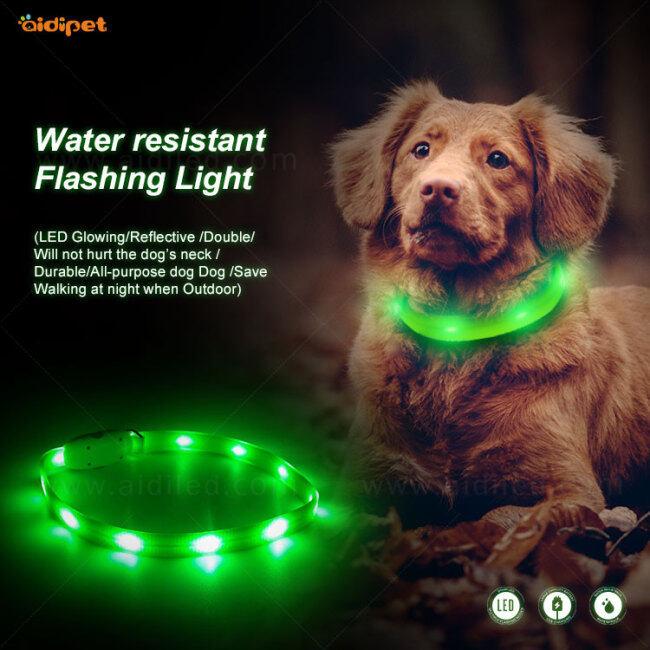 3 Flashing Modes Waterproof Light up Dog Collar Flashing Light Tags Led Dog Collar