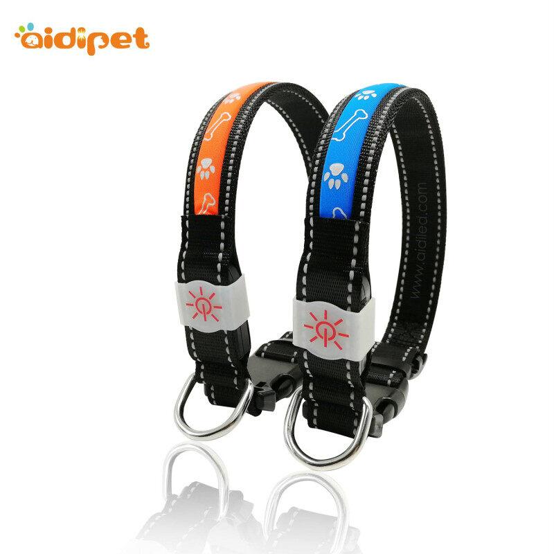 Attractive Design Christmas Led Light Up Dog Collar USB Many Times Using Glow Dog Collar at Night