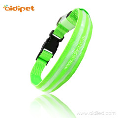 Collar De Perro Led Nylon Dog Collars Light Up Outdoor USB Rechargeable Safety in Dark Pet Collar with Led