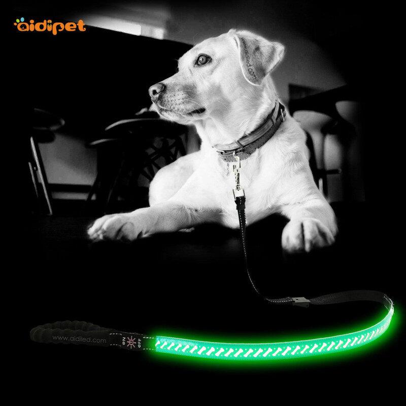 Led Dog Leash Lead Adjustable Best Wholesale Led Dog Harness Leash Glow in the Dark Collar and Leash Set
