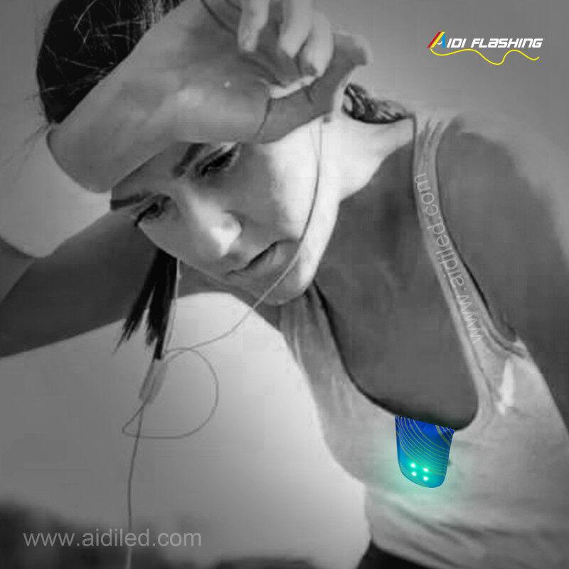 Safety Night Running Arm Wrist Strap Light / Shoe Clip Light