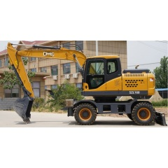 chinese cheap price heave duty excavator DX155W wheel excavator for sale