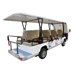 China best price 14 seats sightseeing car witn bucket for sale