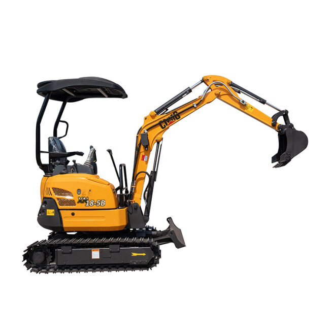 Multifunctional compound type digger small mini rubber tracks excavator