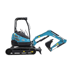 Imported hydraulic system smooth digging action mini garden rubber track digger excavator