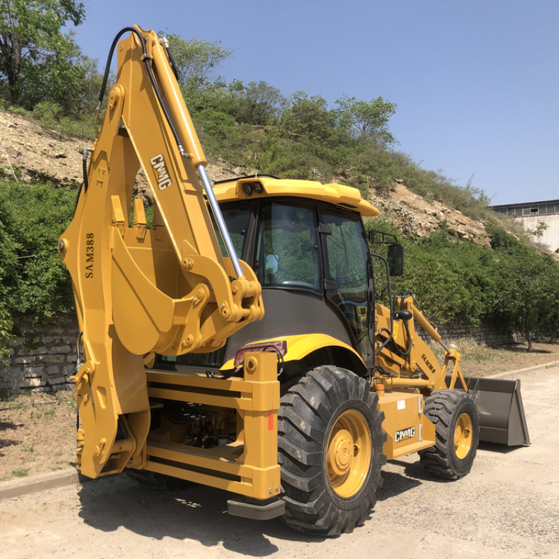 High opearting chinese backhoe loader tractor with loader and backhoe for sale