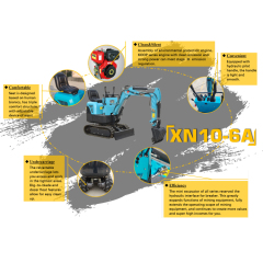 Various attachments can be replaced mini loader crusher excavator for home use