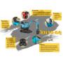 High horsepower attachments hydraulic vibration crusher bucket excavator