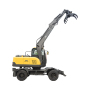 Factory supply china wheeled wood grapple saw excavator with competitive price