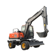 Powerful Earthmoving machinery 8.5 ton middle size hydraulic wheel loader excavator