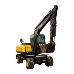 chinese earthmoving machinery 7.5 ton hydraulic wheel excavator price