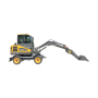 Hot sale high quality chinese wheel digger 5.0 ton wheel excavator for price
