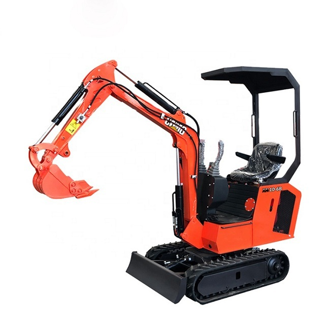 Factory sale diesel grapple mini track excavator with various attachments