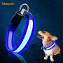 Led Pets Collars Anti-lost Night Led Usb Charging Dog Collar Luminous Nylon Flashing Pet Cat Dog Collar