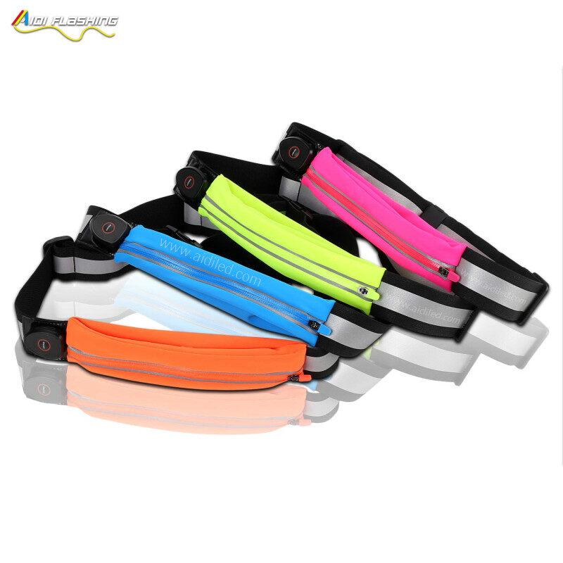 LED Light Up Sports Running Hiking Biking Outdoor Waist Bags Unisex