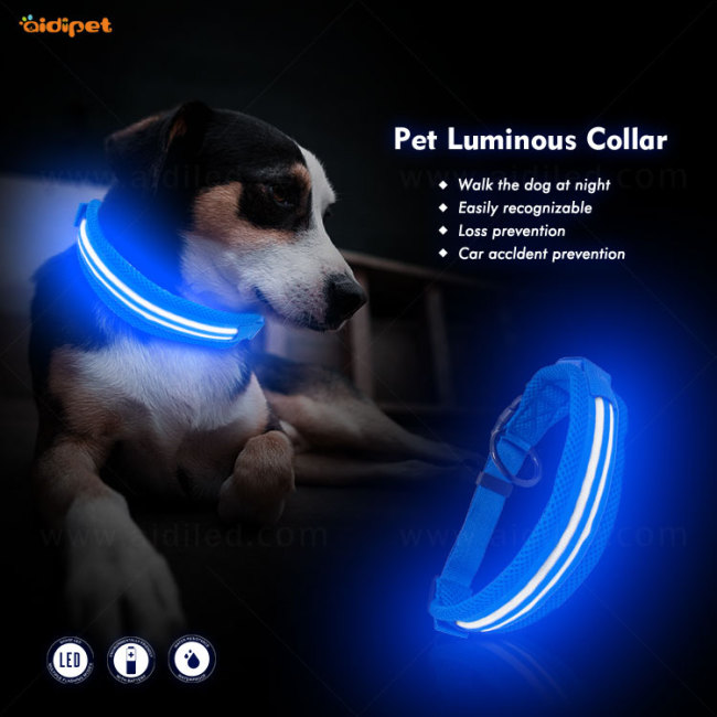 Pet Waterproof USB Rechargeable LED Dog Collar Night Safety Flashing Pet Supplies Dog Accessori
